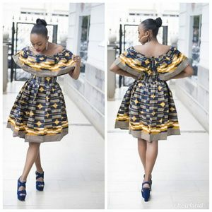 Original African Kitenge Print short dress